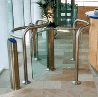 Opus entrance control turnstile